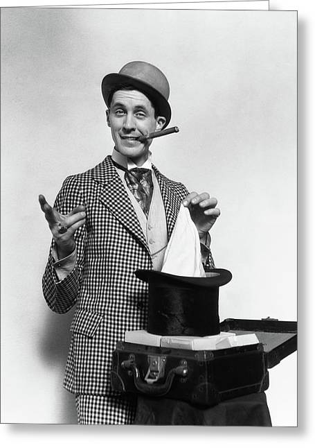 1910s 1920s Character Con Man Magician Greeting Card