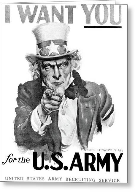 1910s World War One I Want You Uncle Greeting Card