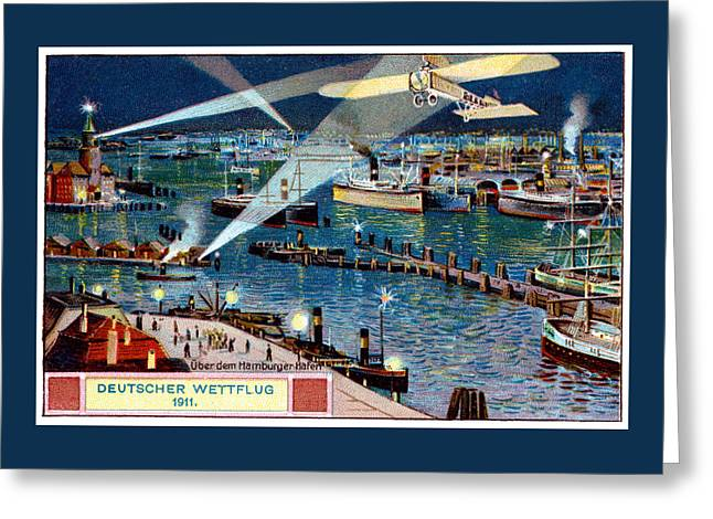 1911 German Air Race Greeting Card by Historic Image