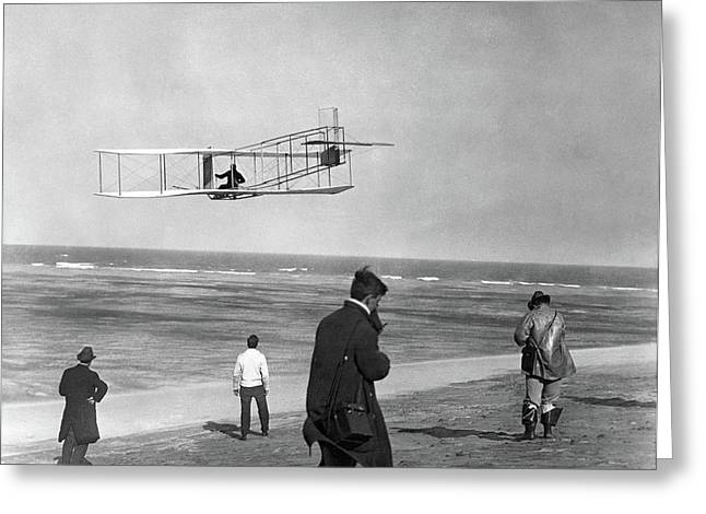 1911 One Of The Wright Brothers Flying Greeting Card