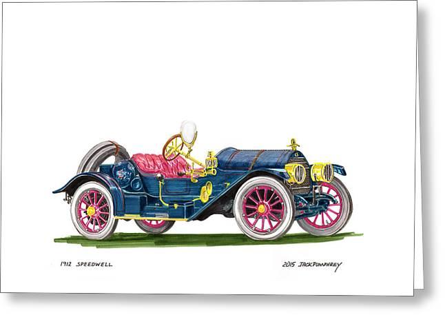 1912 Speedwell Speed Car Greeting Card