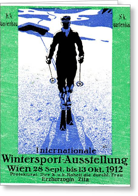 1912 Vienna Winter Sports Greeting Card by Historic Image