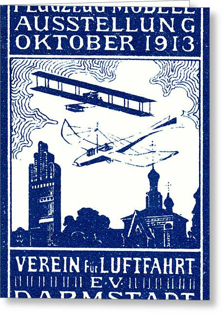 1913 Darmstadt Air Show Greeting Card by Historic Image