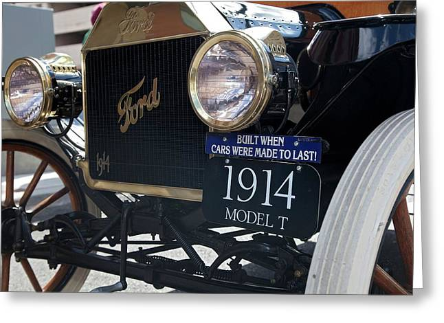 1914 Ford Model T Greeting Card by Jim West