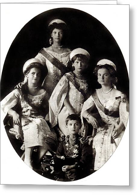 1914 The Romanov Children Greeting Card