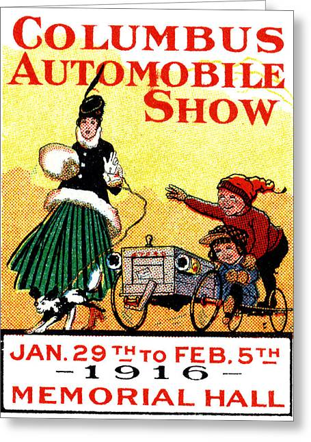 1916 Columbus Auto Show Greeting Card