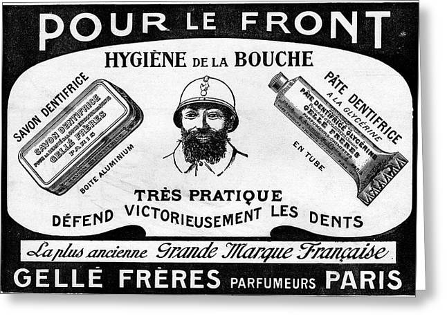 1916 Toothpaste Advert Greeting Card