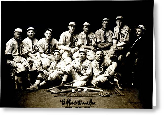 1917 Baseball Team Greeting Card by Historic Image