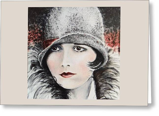 Louise Brooks Greeting Card by Barbara Chase