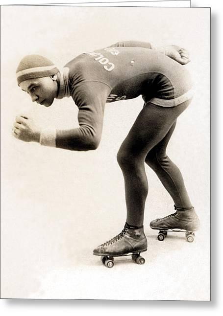 1920 Roller Skater No.2 Greeting Card