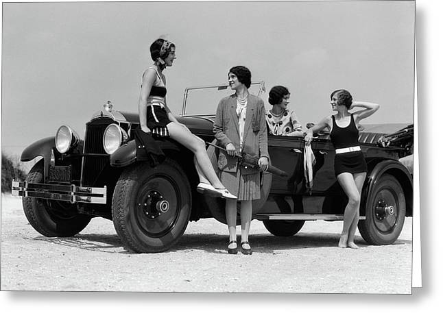1920s 1930s Four Women Greeting Card