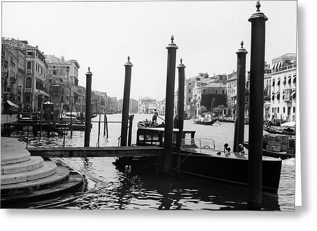 1920s 1930s Venice Italy Gondolas Greeting Card