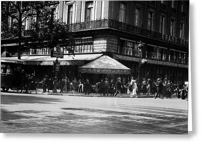 1920s Cafe De La Paix In The Grand Greeting Card