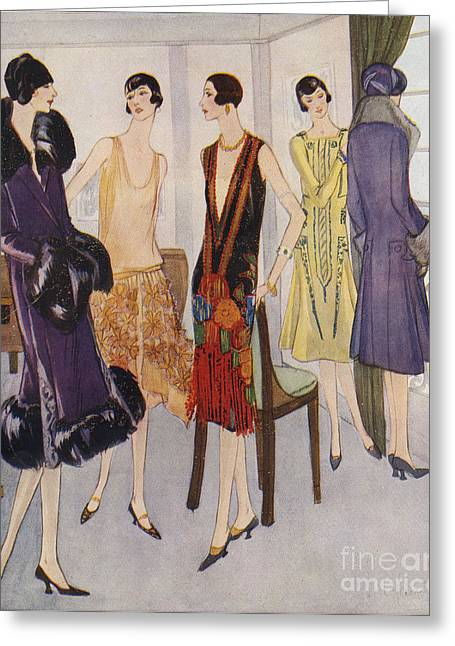 1920s Fashion  1925 1920s Uk Womens Greeting Card by The Advertising Archives