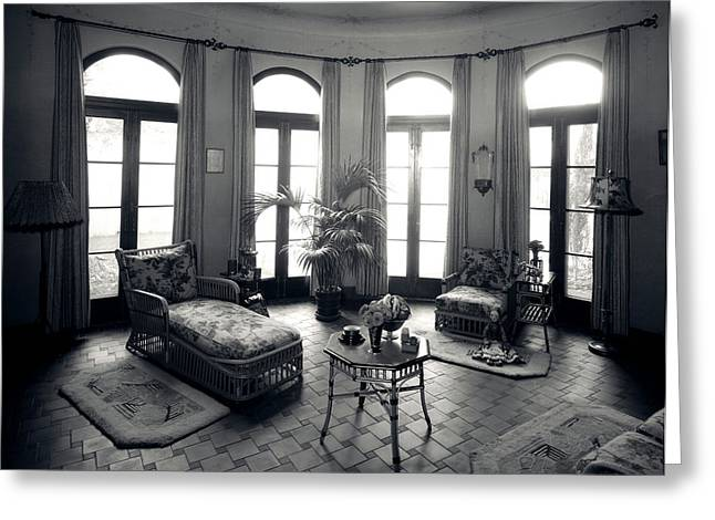 1920s Interior Upscale Solarium French Greeting Card