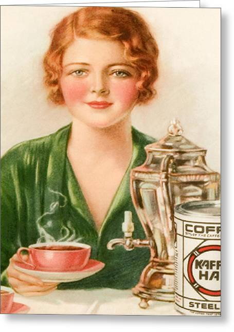 1920s Uk Kaffee Hag Magazine Advert Greeting Card