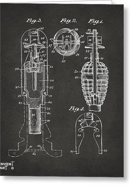 1921 Explosive Missle Patent Minimal Gray Greeting Card
