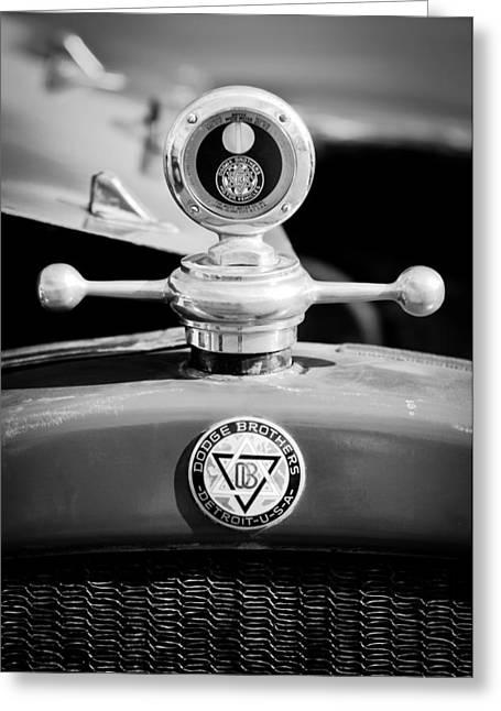 1923 Dodge Brothers Motometer - Hood Ornament - Emblem Greeting Card by Jill Reger