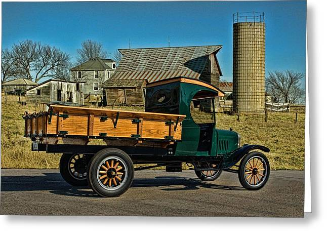 1923 Ford Model Tt One Ton Truck Greeting Card