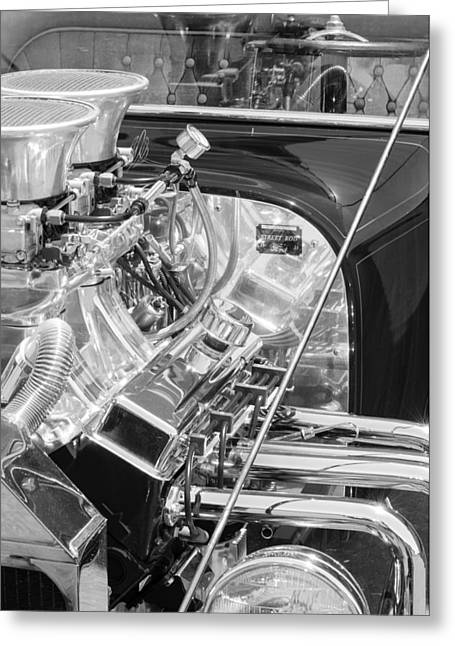 1923 Ford T-bucket Engine 2 Greeting Card by Jill Reger
