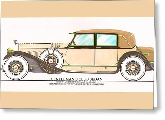 1923 Hispano Suiza Club Sedan By R.h.dietrich Greeting Card by Jack Pumphrey