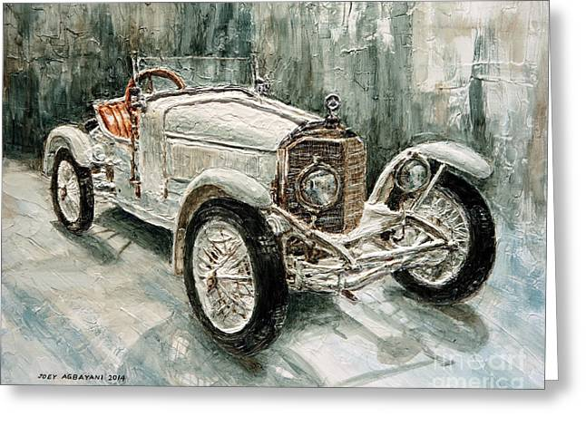 1923 Mercedes Ps Sport- Zweisitzer Greeting Card by Joey Agbayani