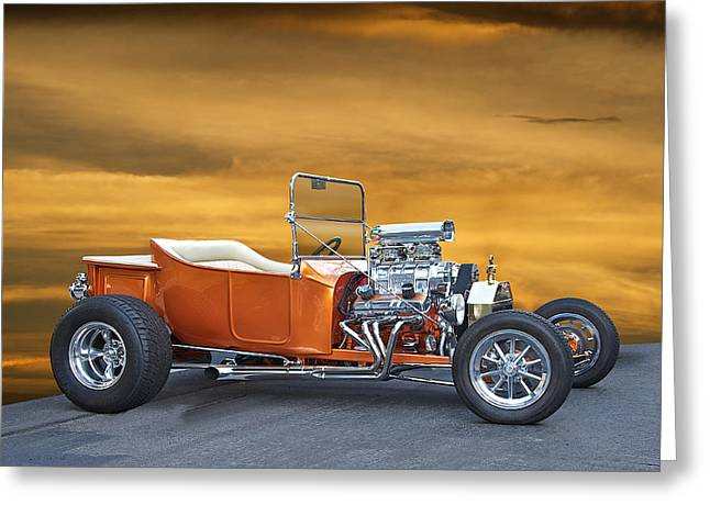 1923 Model T Roadster  Greeting Card by Dave Koontz