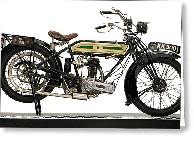 1923 Triumph Sd 550 Motorcycle Greeting Card by Panoramic Images
