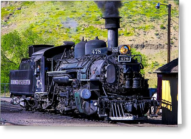 1923 Vintage  Railroad Train Locomotive  Greeting Card