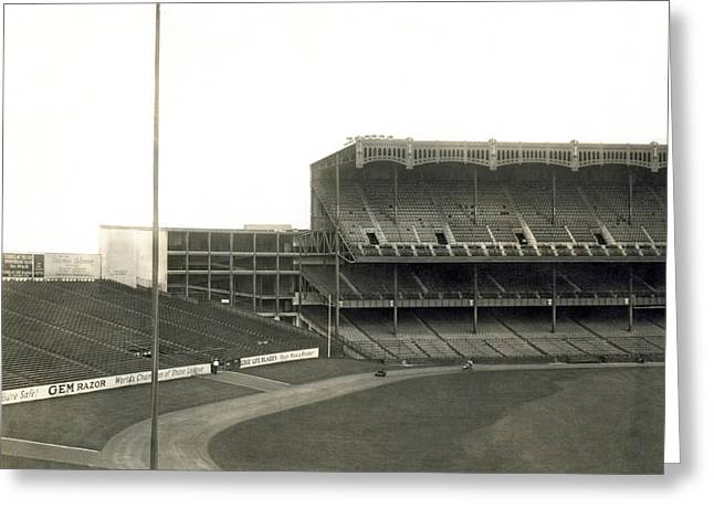 1923 Yankee Stadium Greeting Card by Underwood Archives