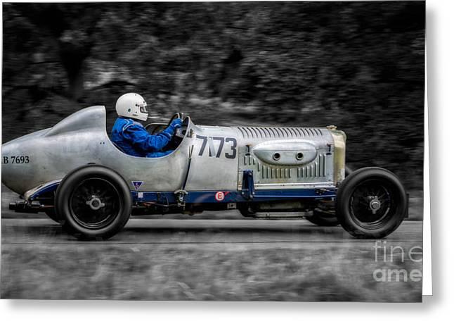 1924 Bentley Greeting Card by Adrian Evans