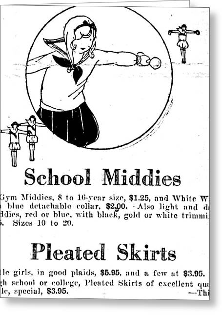 1925 - School Middies Greeting Card by Image Takers Photography LLC