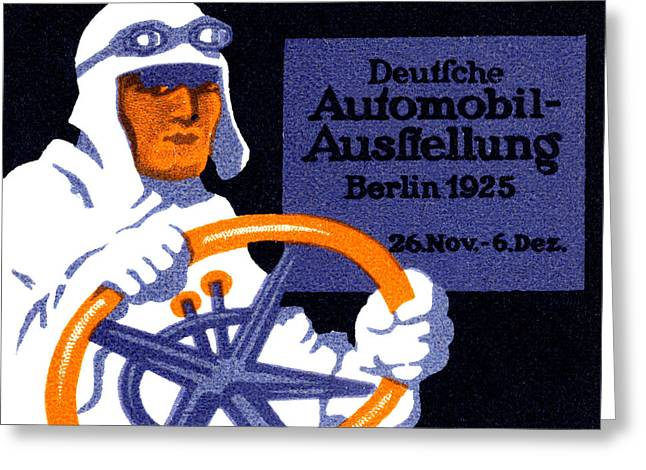 1925 Berlin Car Show Greeting Card by Historic Image