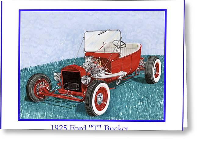 1925 Ford Hot Rod T-bucket Greeting Card by Jack Pumphrey