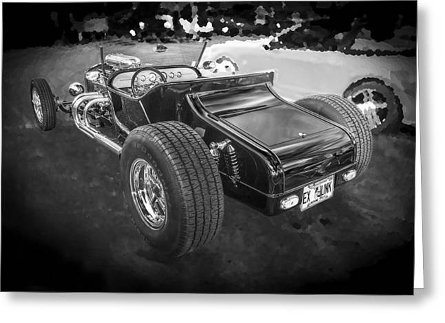 1925 Ford Model T Hot Rod Bw Greeting Card by Rich Franco