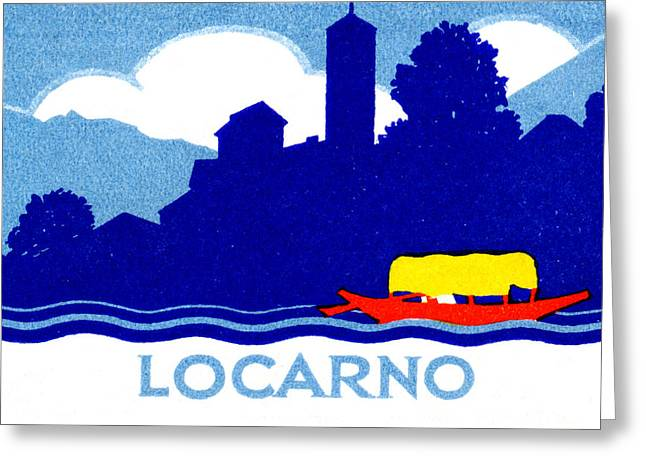 1925 Locarno Switzerland Greeting Card by Historic Image