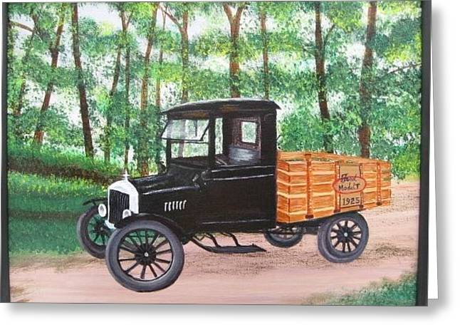 1925 Model T Ford Greeting Card
