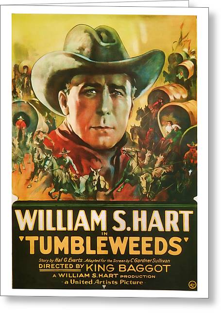 1925 Tumbleweeds Vintage Movie Art Greeting Card