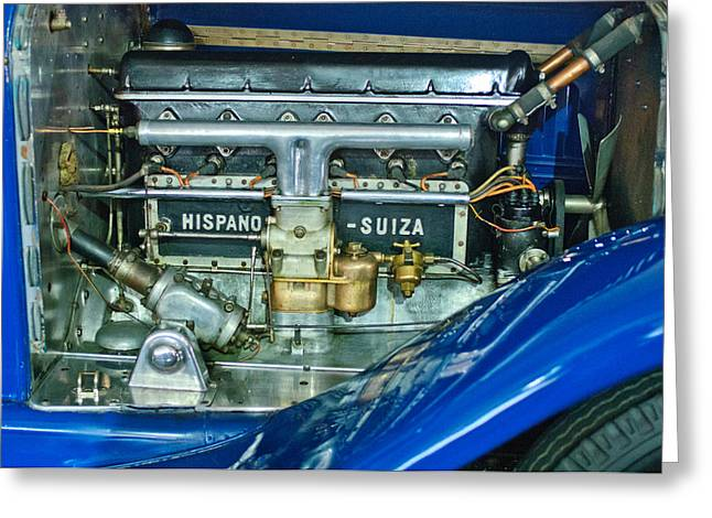 1926 Hispano-suiza Engine Greeting Card by Jill Reger