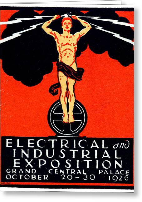 1926 New York City Electrical Industrial Exposition Greeting Card by Historic Image