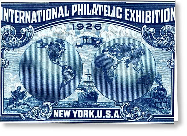 1926 New York International Philatelic Exhibit Greeting Card by Historic Image