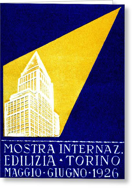 1926 Turin Italy Architecture Exposition Greeting Card by Historic Image