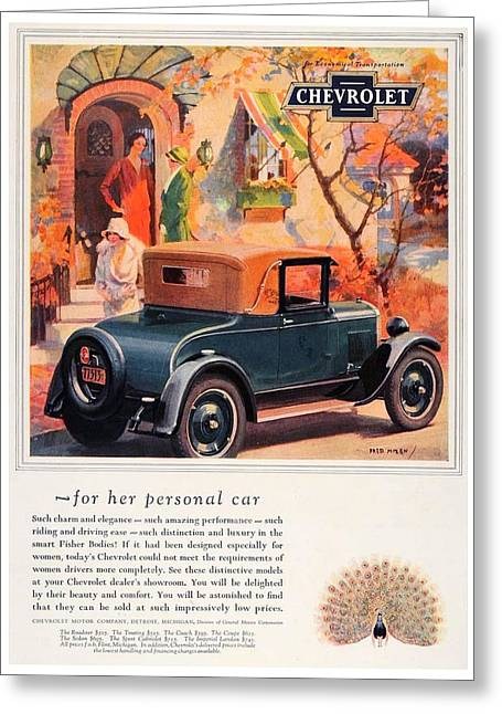 1927 - Chevrolet Advertisement - Color Greeting Card