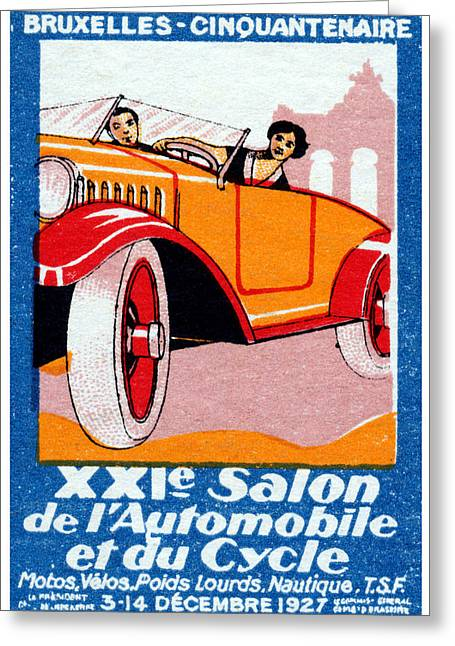 1927 Brussels Automotive Show Greeting Card by Historic Image