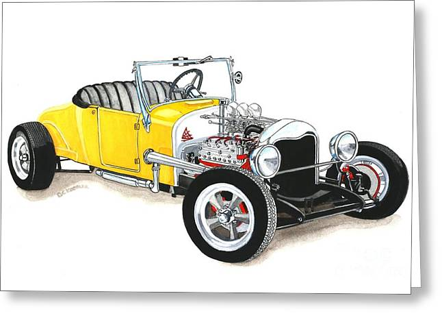 1927 Ford Roadster Greeting Card