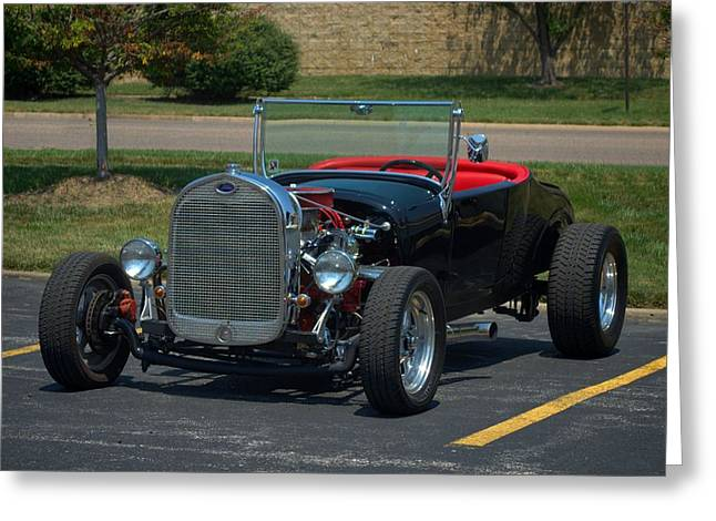 1927 Ford Roadster Hot Rod Greeting Card
