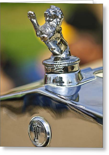 1927 Franklin Sedan Hood Ornament Greeting Card