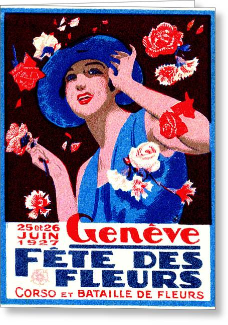 1927 Geneva Flower Show Greeting Card