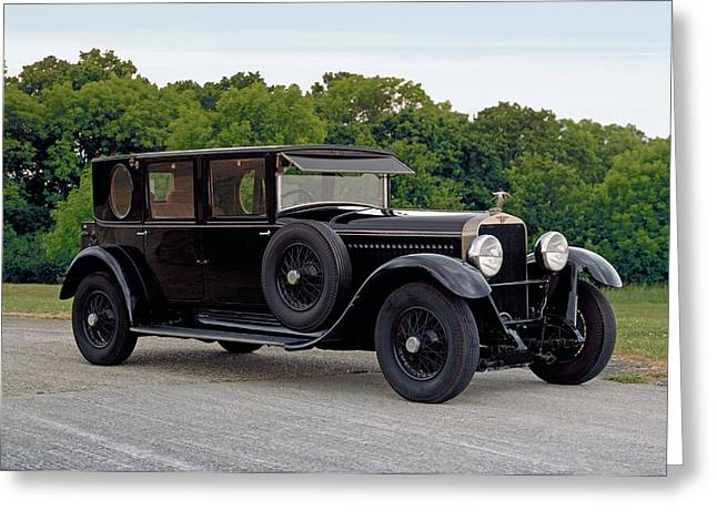 1927 Hispano Suiza H6b, 4 Door Greeting Card by Panoramic Images