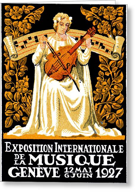 1927 International Music Festival Greeting Card